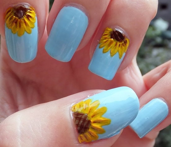 88 amazing sunflower nail art design for this summer 2017 blurmark 88 amazing sunflower nail art design for this summer 2017 prinsesfo Image collections