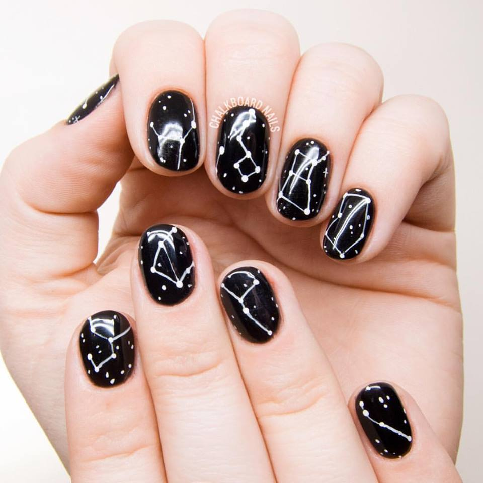 Pics Of Nail Art: 69 Beautiful Black And White Nail Design For Classic Look