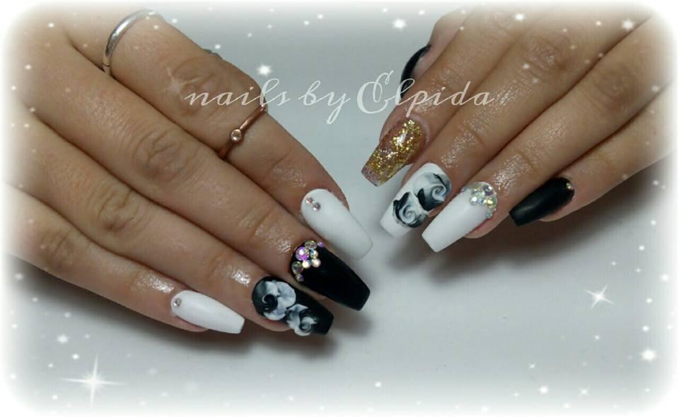 Black-&-White-Nail-3D-Design - Blurmark