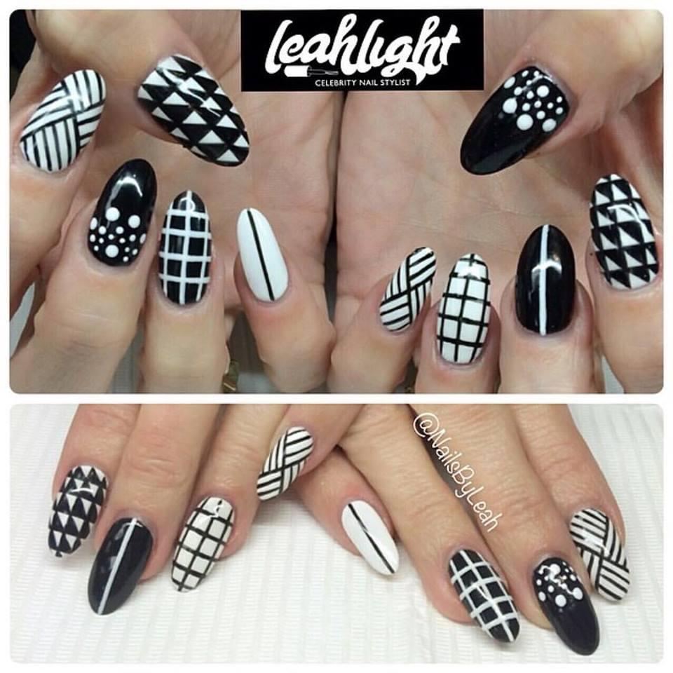 Black-&-White-Nail-Design-2 - Blurmark