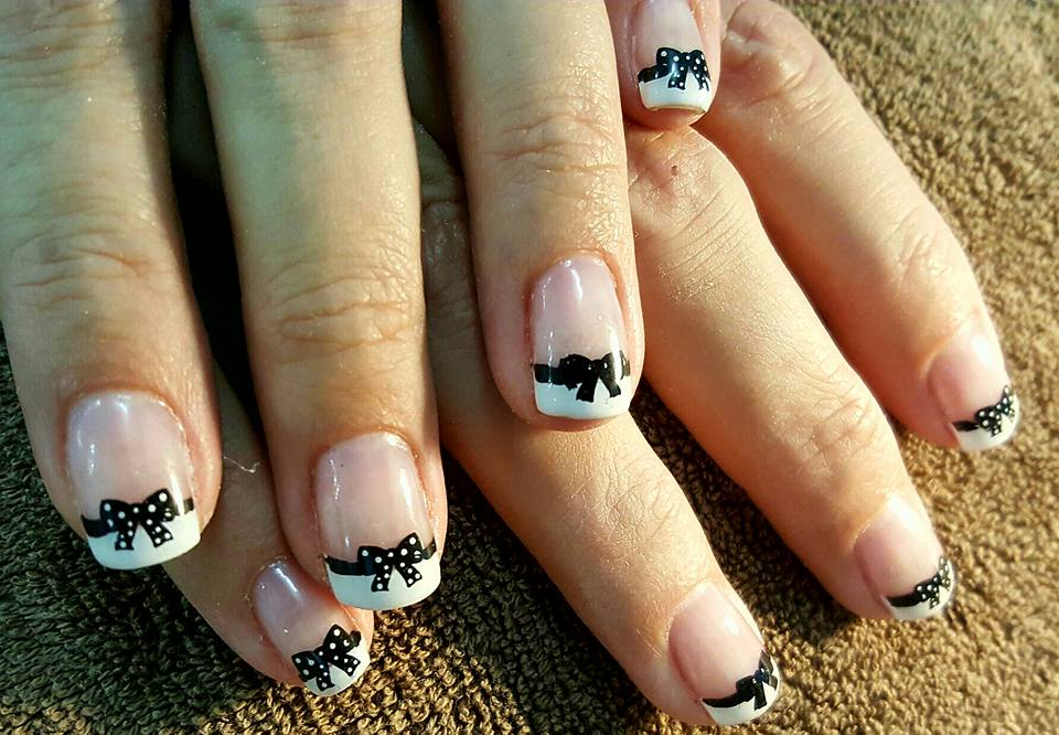 Easy Black And White Nail Designs For Short Nails Archives Blurmark