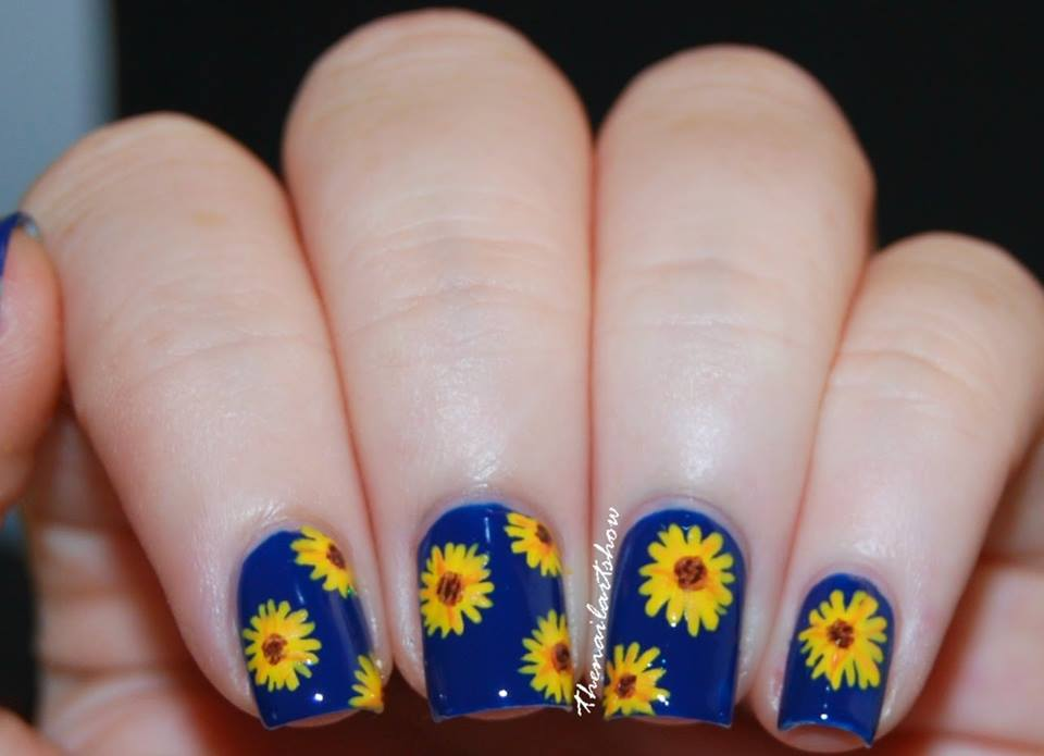Get Ready For Spring Party With Sunflower Nail Art That Will Ultimately Beautify Your Hands And Match The Atmosphere Of Space Here Are 88 Amazing