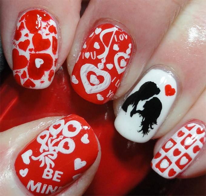 74 Fabulous Valentine Nail Art Ideas That You'll Love
