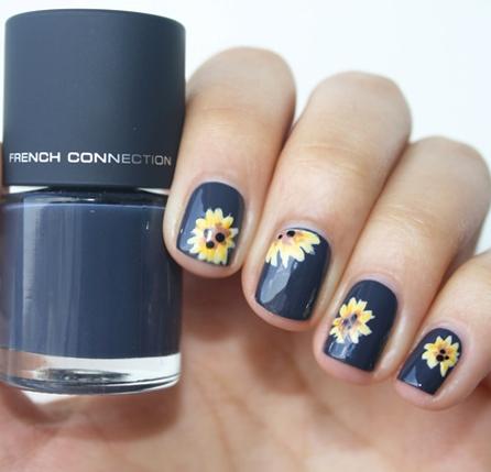 Outstanding-Sunflower-Nail-Designs-for-Sunny-Days - Outstanding-Sunflower-Nail-Designs-for-Sunny-Days - Blurmark