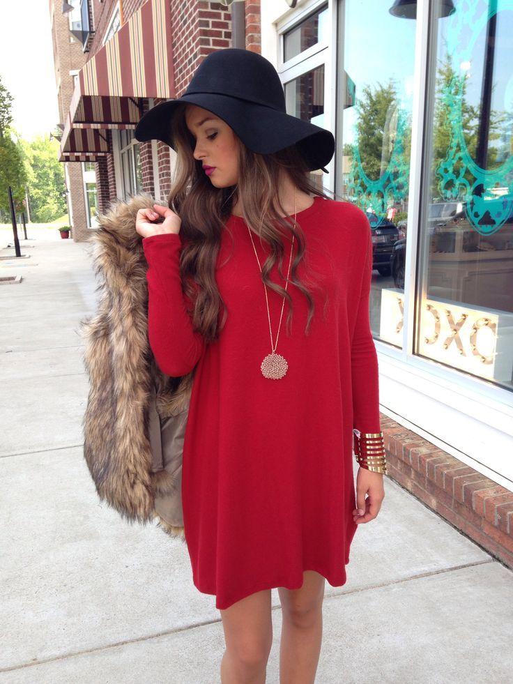 Red-Dress-With-Black-Hat - Blurmark 363aa489fd6