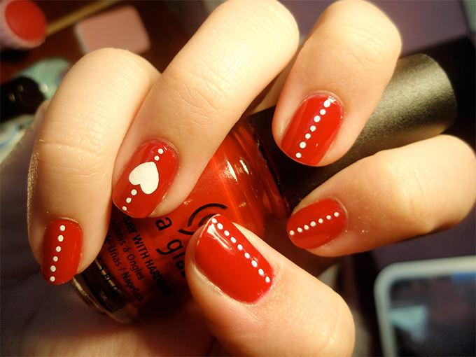 Valentine Nail Art Love Nail Art Easy Valentines Day Nails Cute