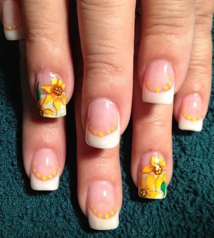 Sunflower-Nail-Art-Design-42 - Sunflower-Nail-Art-Design-42 - Blurmark