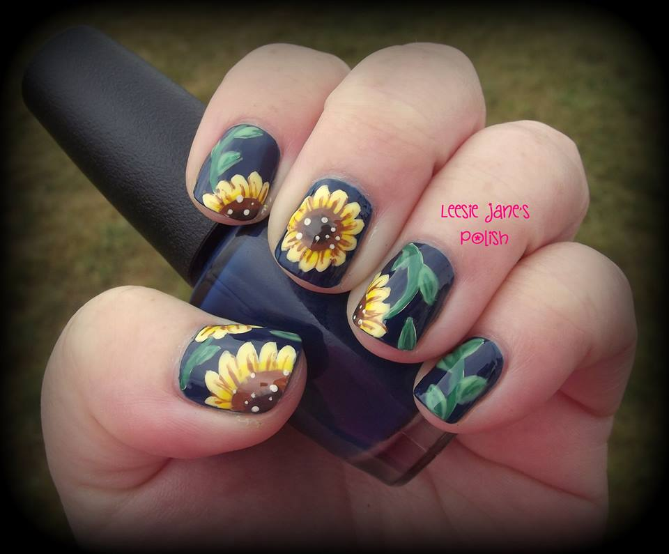 Sunflower-Nail-Art-Design-9 - Sunflower-Nail-Art-Design-9 - Blurmark