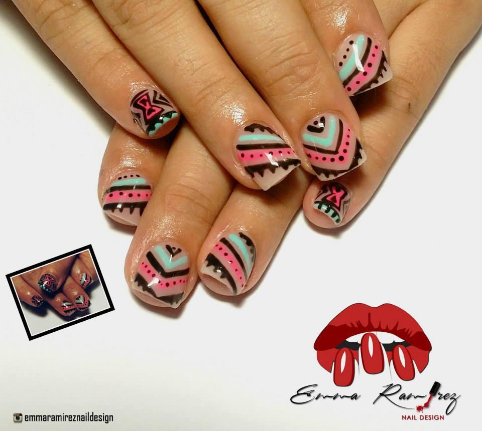 Tribal Nail Art Design 37 Blurmark