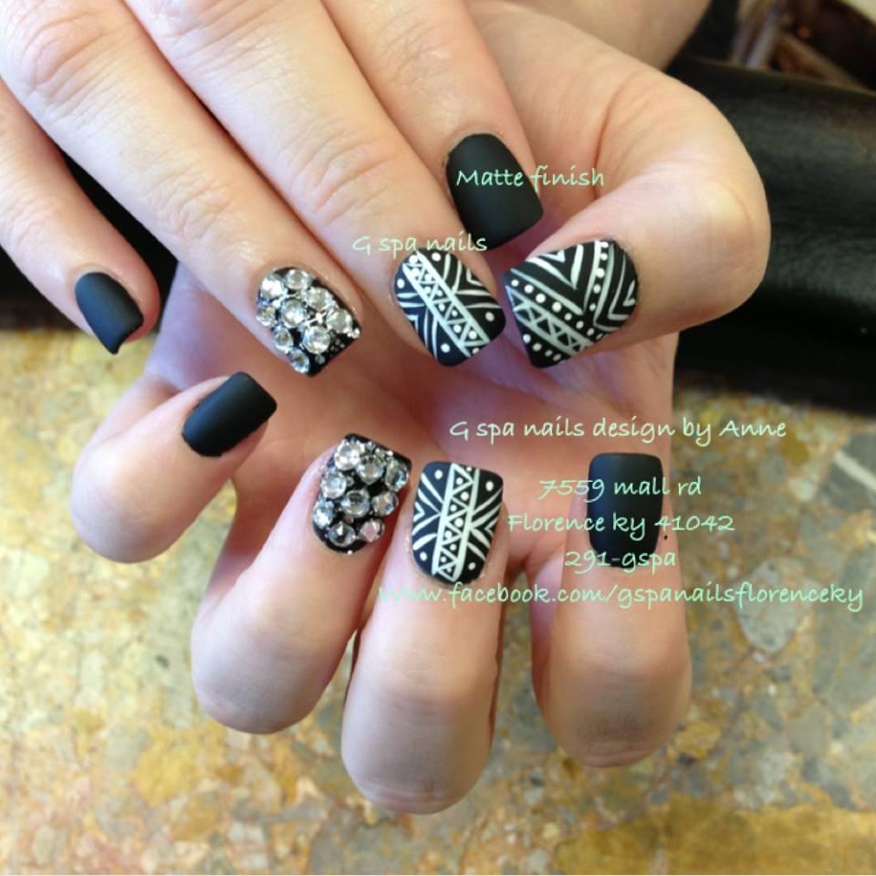 Tribal Nail Art Design 4 Blurmark