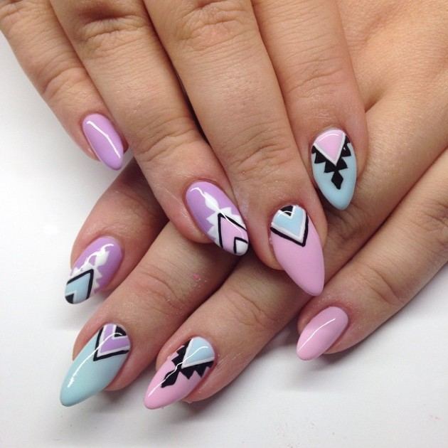 Summer 2017 Nail Designs: 84 Cute & Colorful Tribal Nail Art Designs For Summer 2017