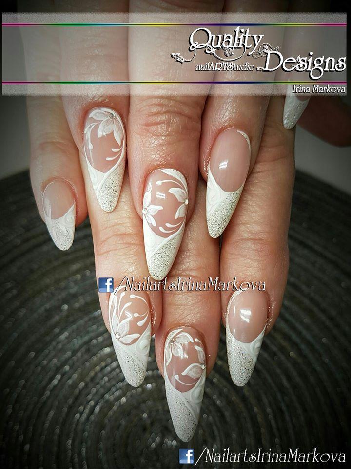 84 Attractive Wedding Nail Art Design Ideas For Brides - Blurmark