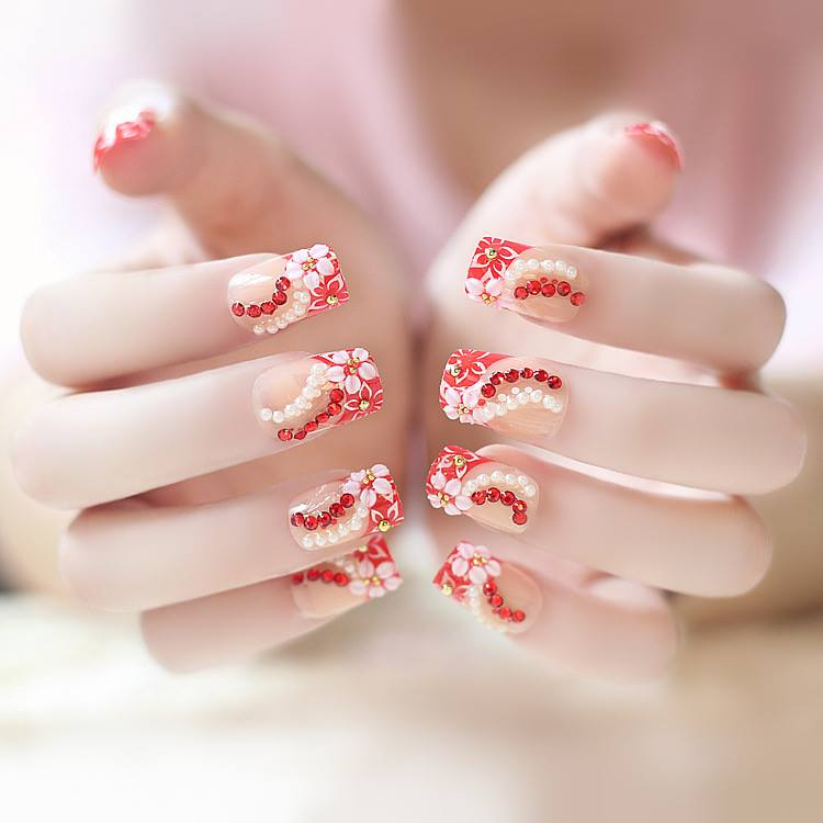 Wedding Nail Art Designs Gallery: 84 Attractive Wedding Nail Art Design Ideas For Brides