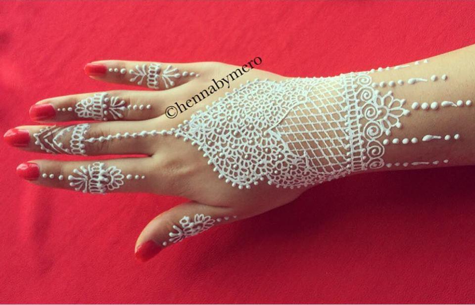 64 Stunning White Henna Design Ideas That You Will Love