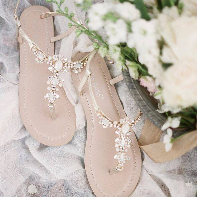 Bridal Shoes Boho: Bohemian Style Beach Wedding Shoes-1