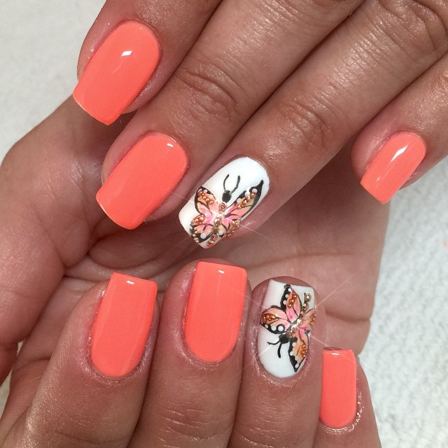 Butterfly Nail Designs Step By Step: Butterfly-Nail-Art-Design-38