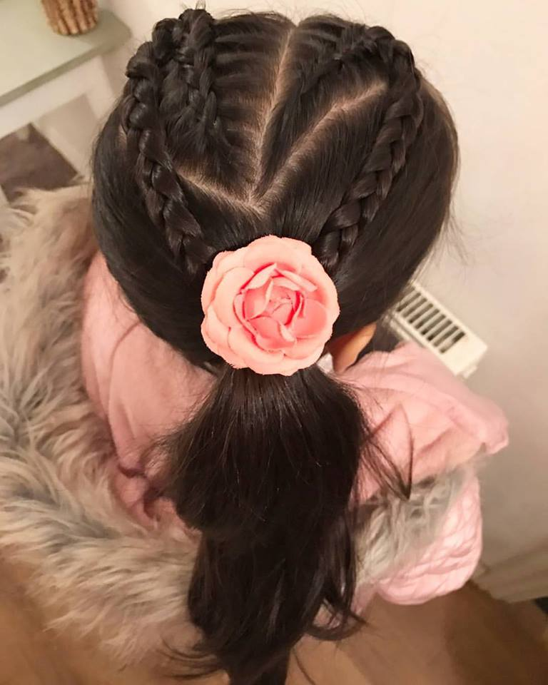 43 Cute Valentine S Day Hair Style Ideas For Kids Blurmark