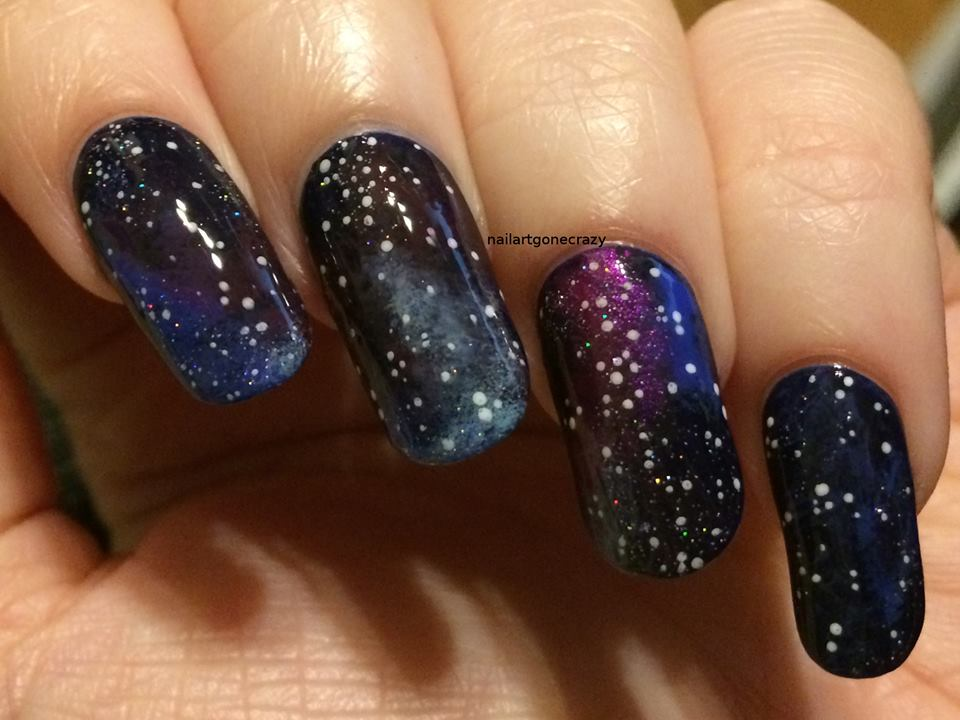 45 Beautiful Galaxy Nail Art Design Ideas - Blurmark