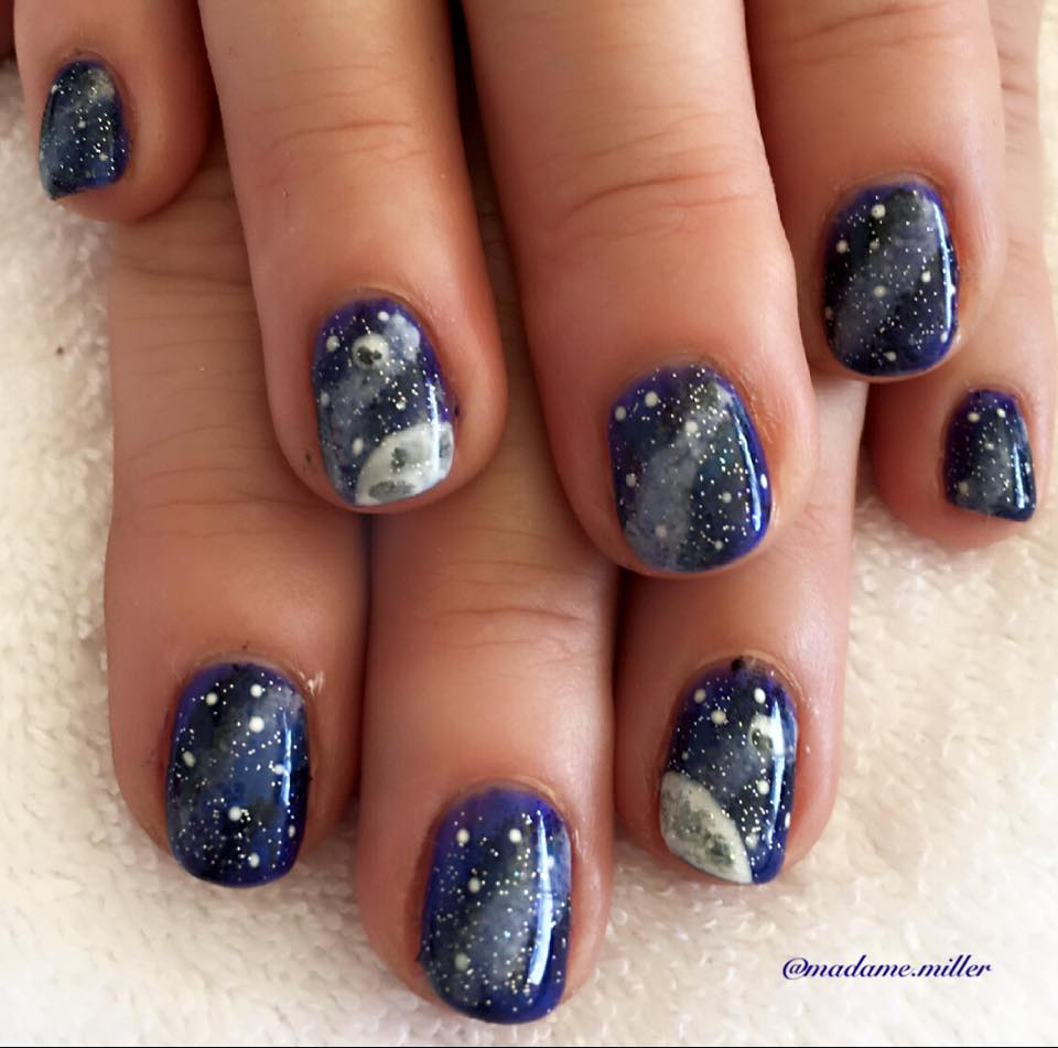 45 Beautiful Galaxy Nail Art Design Ideas Blurmark