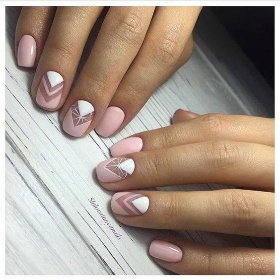 Pink Negative Space Nail Art Design-1