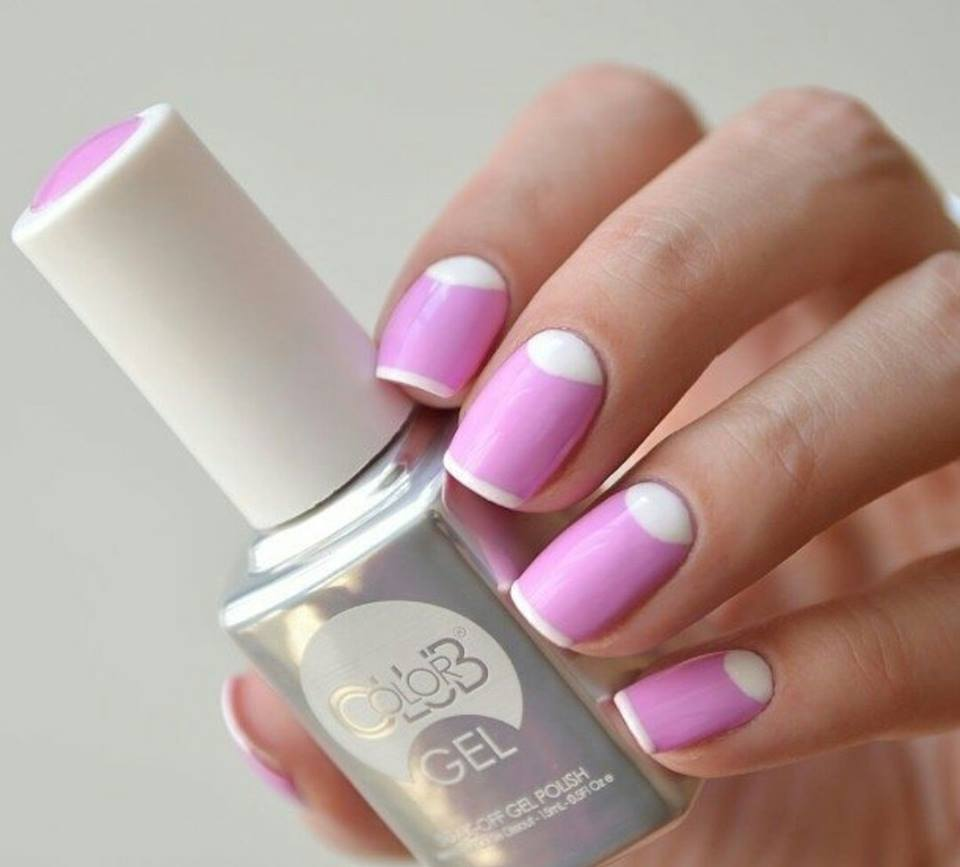 Nail Art Design White And Pink – Papillon Day Spa