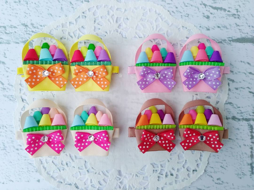 Adorable Colorful Easter Basket Clips