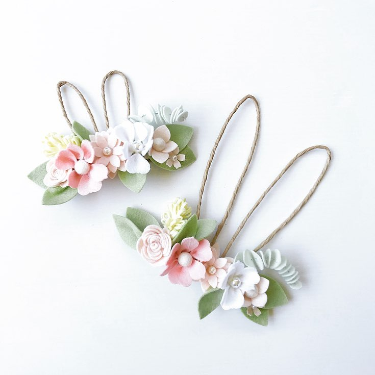 Amazing Easter Flower Crown With Smaller Bunny Ears