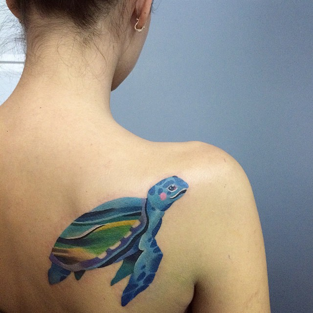 Pin On Tattoo: 62 Turtle Tattoos For Women That Depict Beauty And Peace