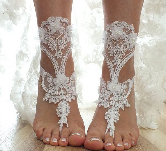 45 Adorable Barefoot Beach Wedding Shoes Ideas For