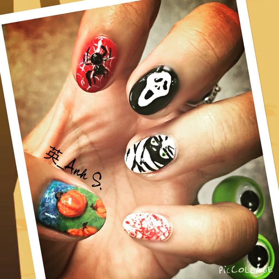 Crazy Halloween Nail Art