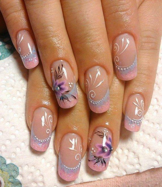 63 dazzling flower nail art for pleasant spring 2017 design creative flower nail art prinsesfo Image collections