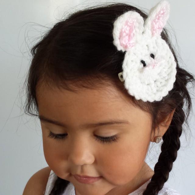 Crochet Bunny Clips