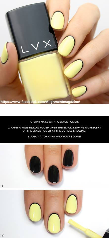 Diy Black Kandy Yellow Summer Nail Art Blurmark