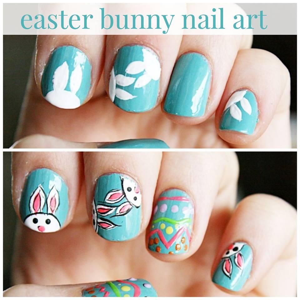 Easter Bunny Nail Design Blurmark