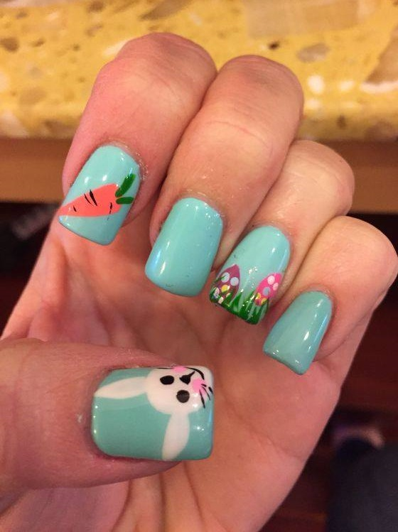 70 easy easter nail art ideas you must try easter fun nail art prinsesfo Choice Image
