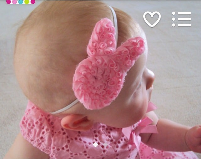 Exclusive Bunny Shape Easter Headband For New Born Baby