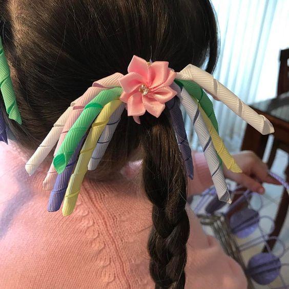 Eye-Catching Handmade Ribbon Easter Hair Accessory