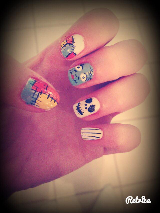 Funny HAlloween Nails