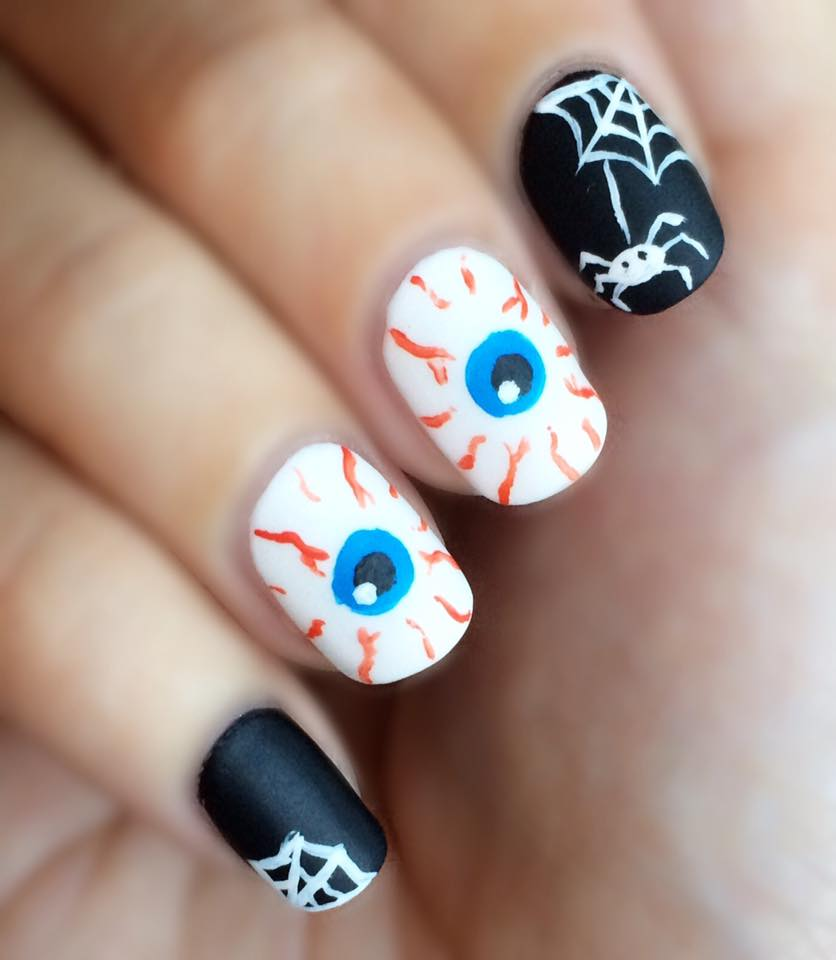 ... Halloween Nail Art Design ... - 65 Creepy Nail Art Design Ideas For 2017 Halloween