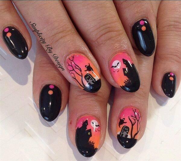 halloween nail idea