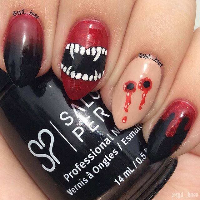 Halloween Scary Nails
