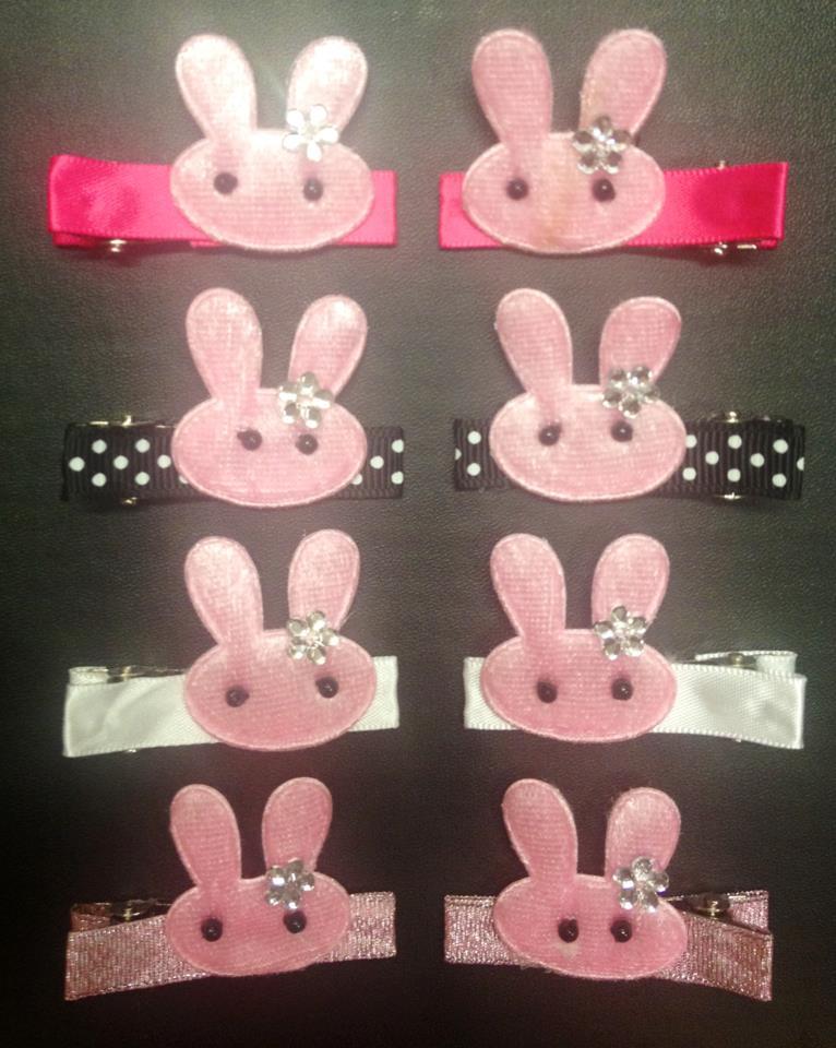 Handmade Easter Bunny Clips