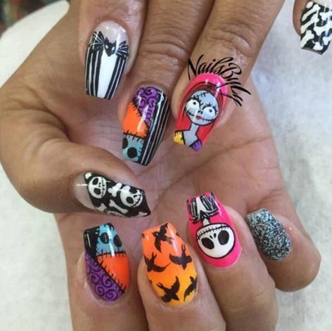 creepy nail art design ideas for halloween