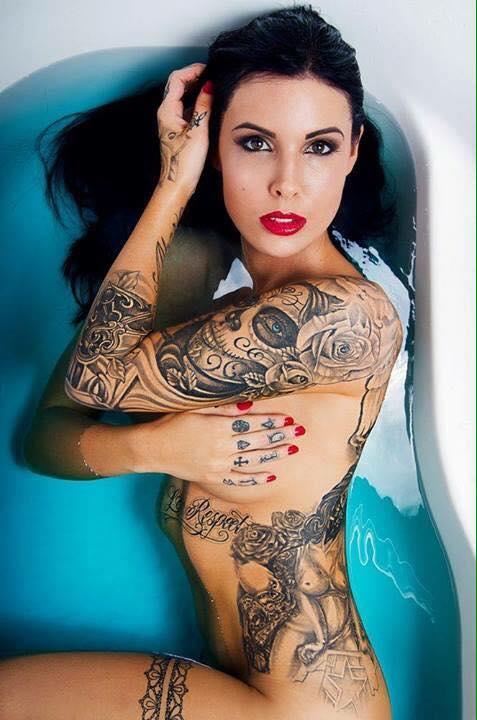 Lady Skull Tattoo On Shoulder