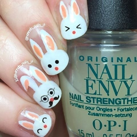 Nail Art Bunny Image Collections Easy Nail Designs For Beginners