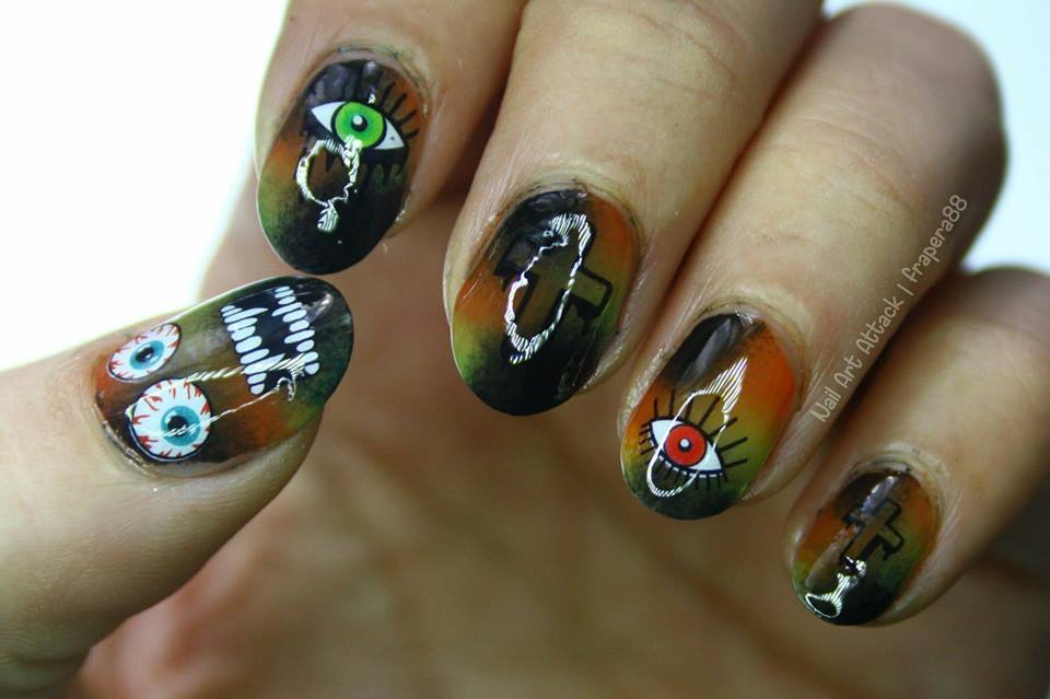 Nightmare Halloween Nails