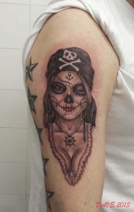Pirate Women With Sugar Skull