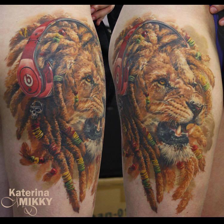 daf27af35f82f ... Rasta Lion Tattoo: 56 Lion Tattoos Ideas To Show Strength And Bravery