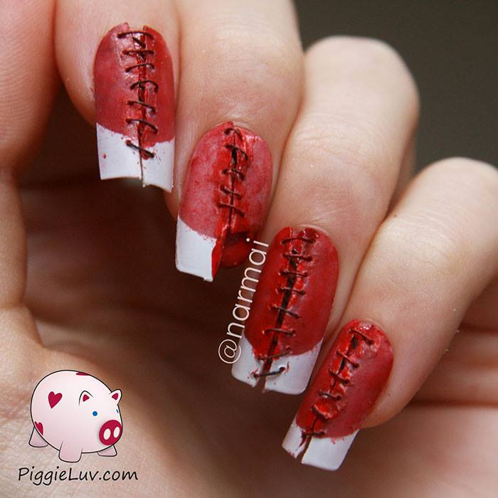 Red Halloween NAils