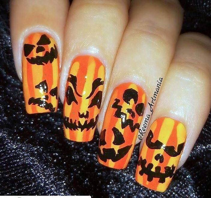 Scary Halloween Nail Design